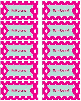 A Modern Teacher Math Journal Labels Free