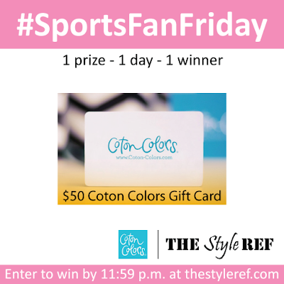 #SportsFanFriday Giveaway from The Style Ref
