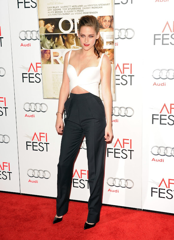 Kristen Stewart at 2012 AFI  Fest red carpet