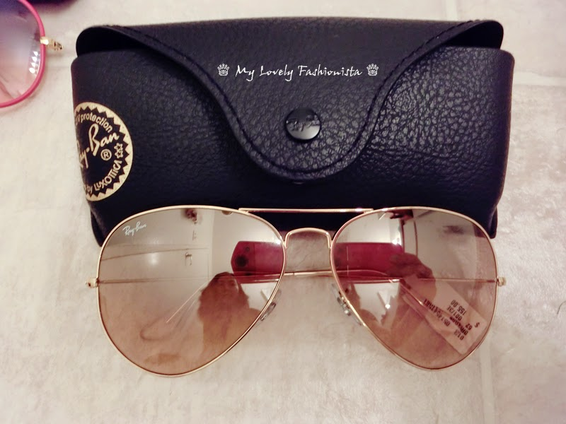 ray ban sunglasses 62mm  ray ban 'large original aviator' 62mm sunglasses, pink flash