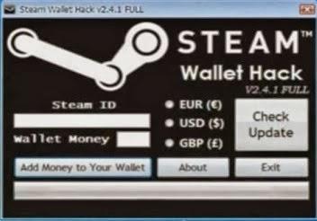 Code porte monnaie steam generator