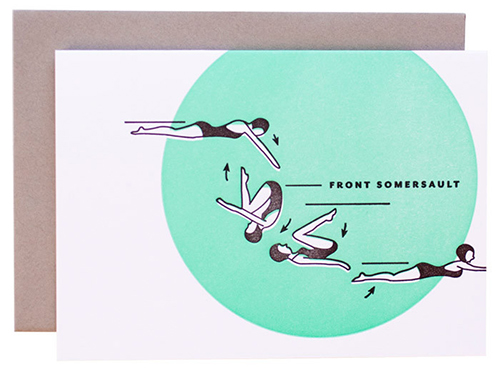 Synchronized Swimmer Card Set from Maemae Paperie