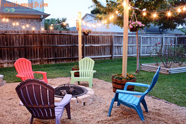 Pea Gravel Patio Diy : DIY Patio Area with Texas Lamp Posts