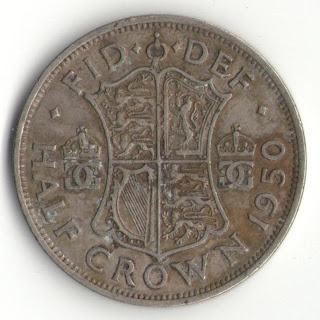 england half crown 1950