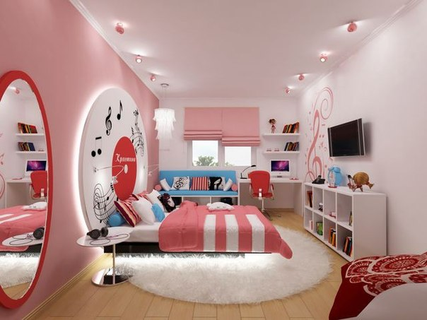 Childrens room decor home decorating ideas for Couleur chambre ado fille