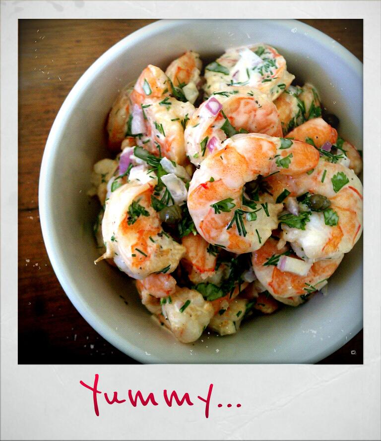 la dama cooks: roasted shrimp salad