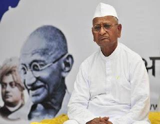 Anna Hazare fasting