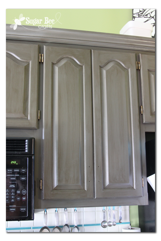 Rustoleum New Grey Kitchen Cabinet Transformation Castle Kit - Grey glazed cabinets