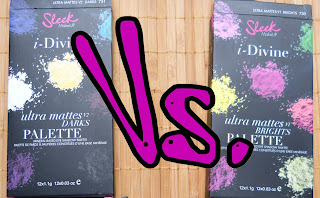 Sleek i-Divine Ultra Mattes: V1 Brights vs. V2 Darks
