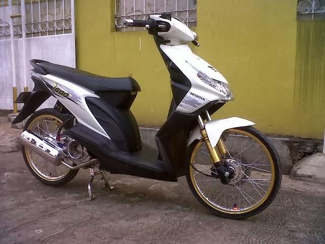Modifikasi Honda Beat Putih Velg 17 Jari-Jari Gambar Terbaru title=