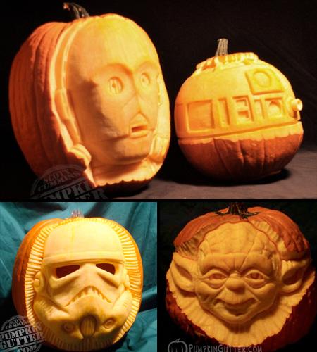 Pumpkin Carving Ideas Star Wars: Scott Cummins 3D Pumpkin Carving