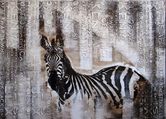 ILVA - Oljemålning med zebramotiv | www.var-dags-rum.se