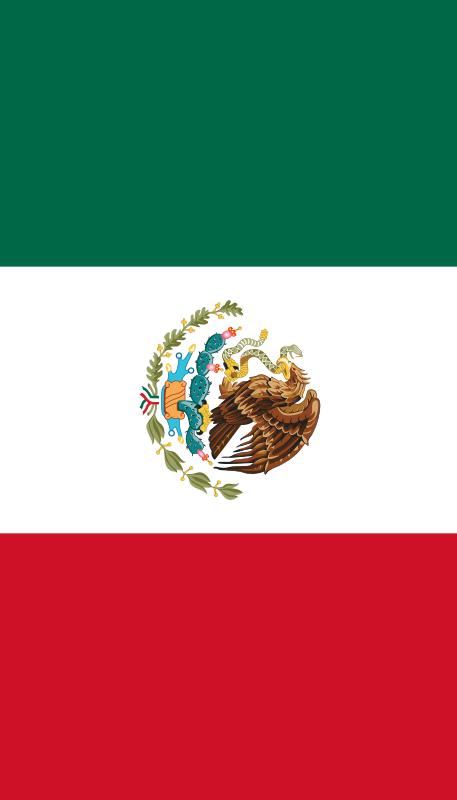 bandera de Mexico para imprimir