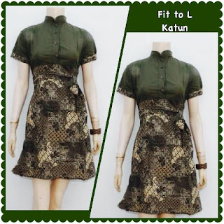 Baju Batik Dress DB 5007