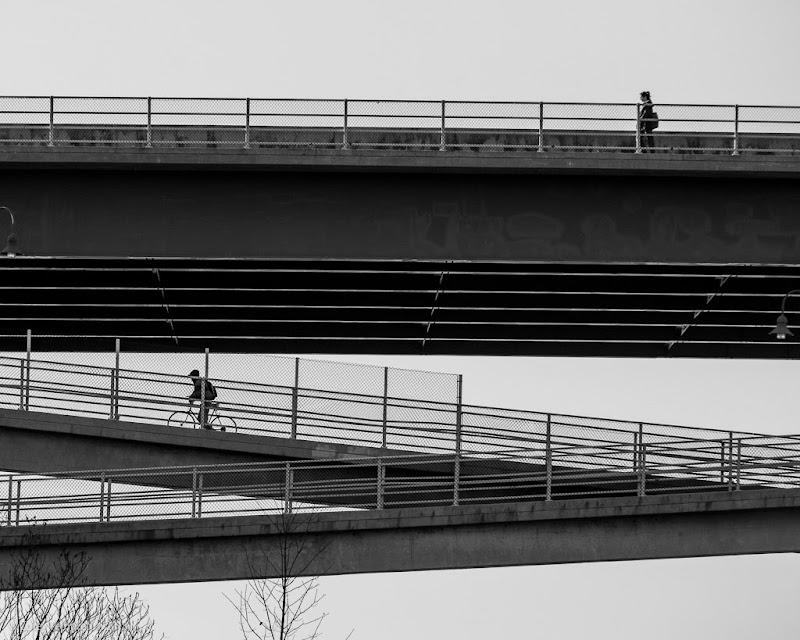 Portland, Maine Casco Bay Bridge black and white photo by Corey Templeton. November 2013.