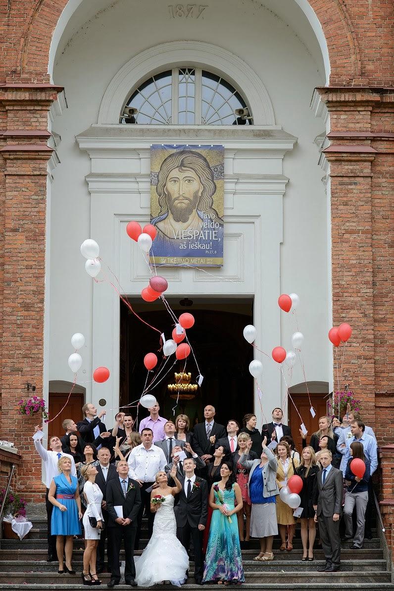 vestuvių nuotraukos su balionais