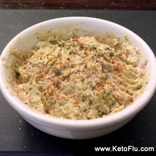 Ketogenic spicy guacamole tuna salad recipe