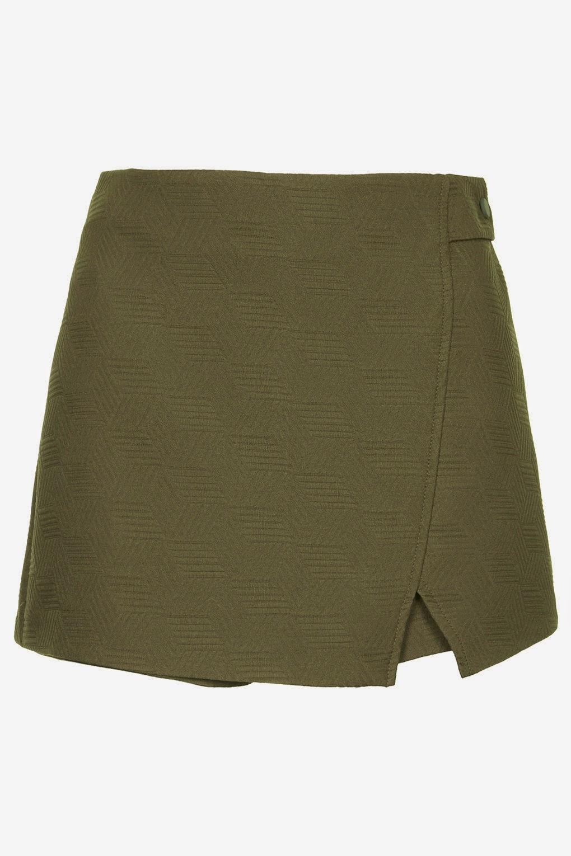 khaki skort, topshop khaki skirt, quilted skort,