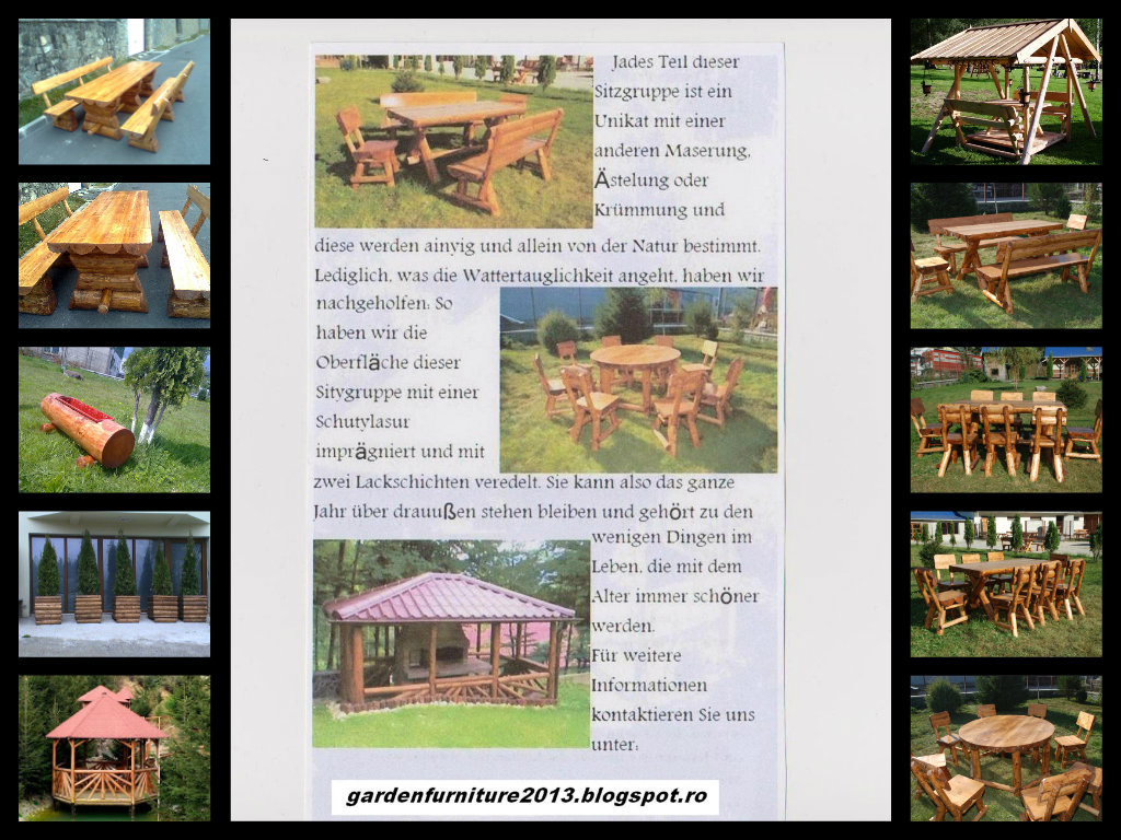 Rustikale Gartenmöbel: Rustikale Gartenmöbel