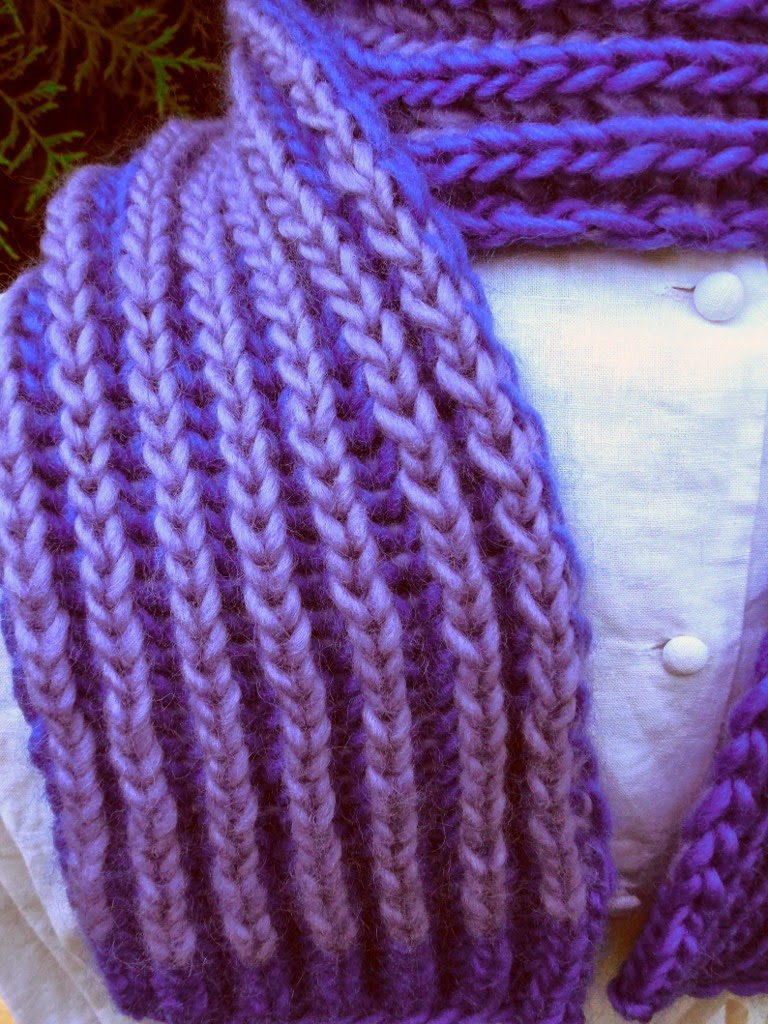 Brioche Knitting Tutorial : The fiber bug brioche rib scarf pattern now available