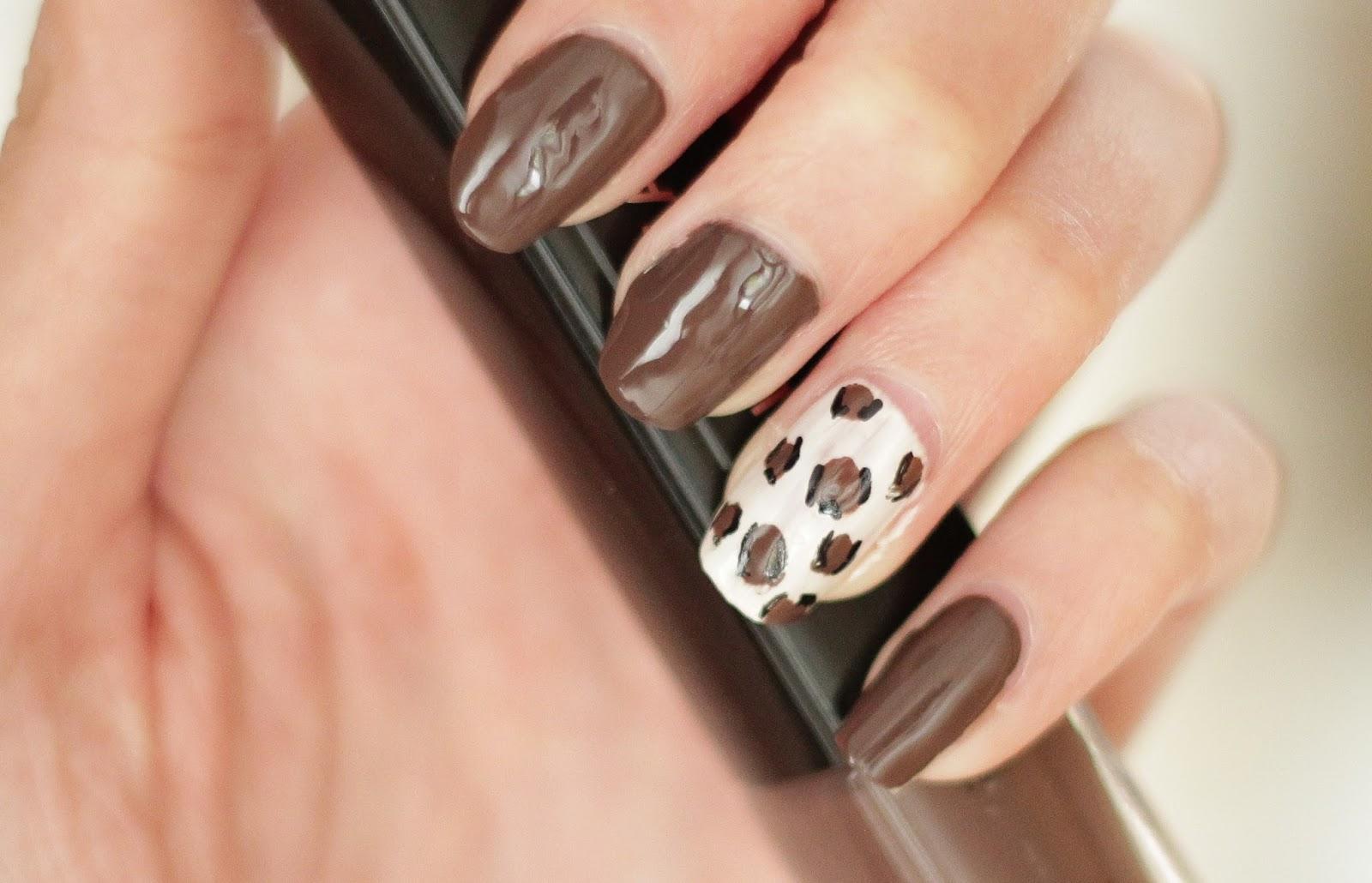 leopard nailart