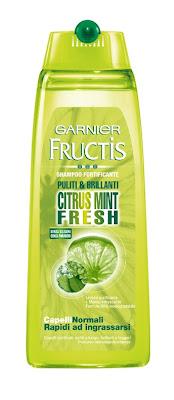 garnier fructis shampoo citrus mint fresh