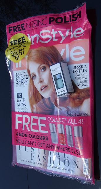 july 2015 magazine freebies red, instyle, glamour, marie claire, elemis, ren, nails inc, malin + goetz