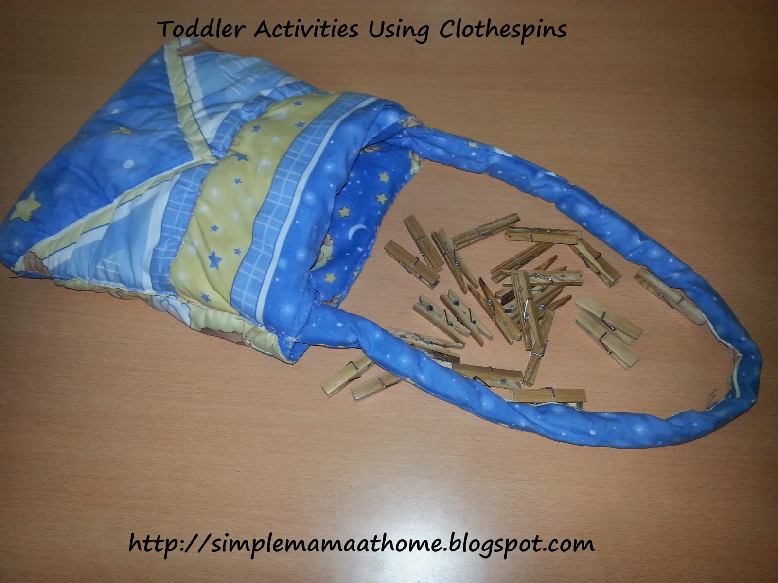 Toddler Activities Using Clothespins