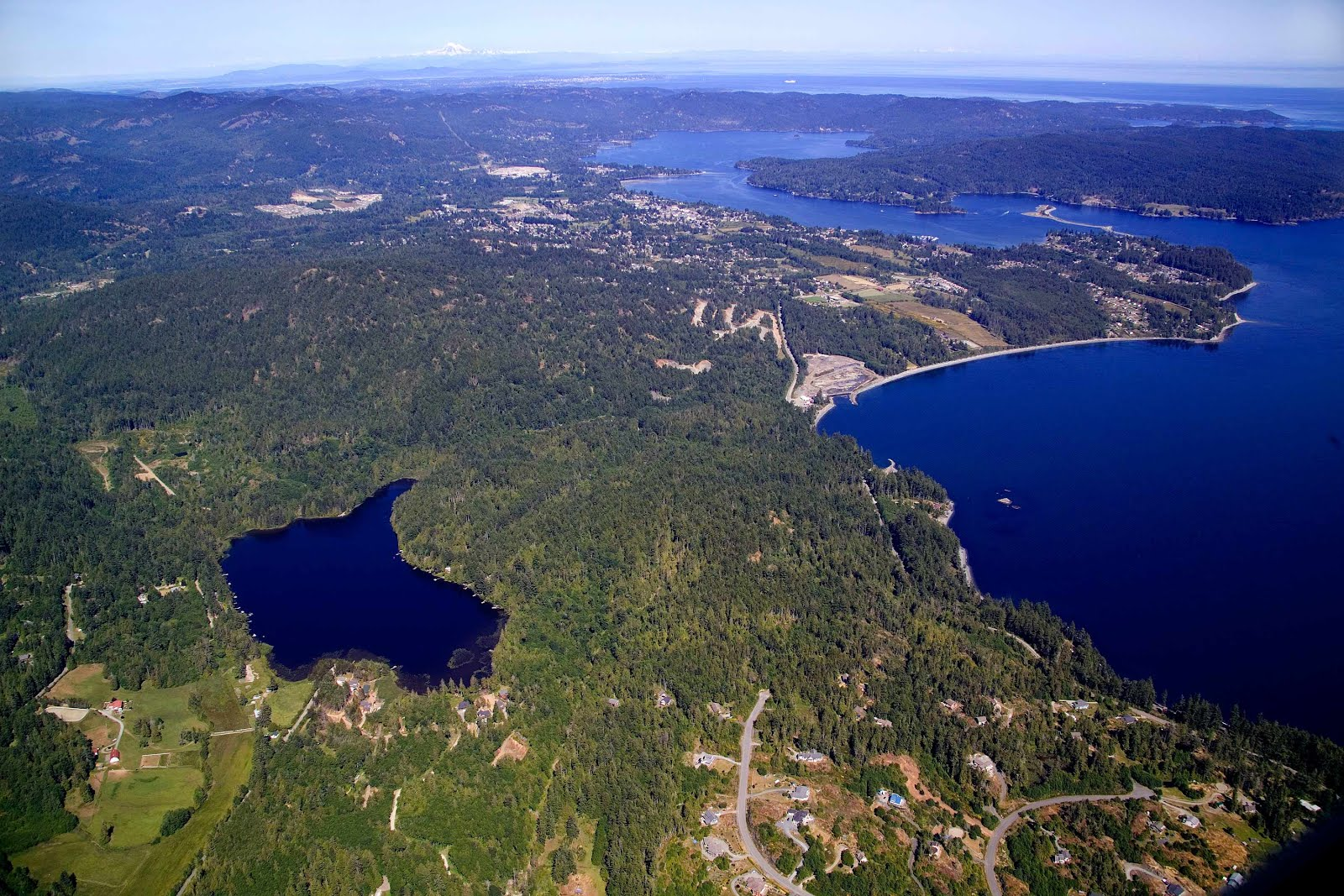 Aerial view of Sooke