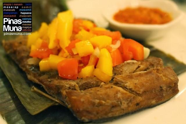 Bangus in Banana Leaves with Talangka Sauce by Cucina ni Bunso