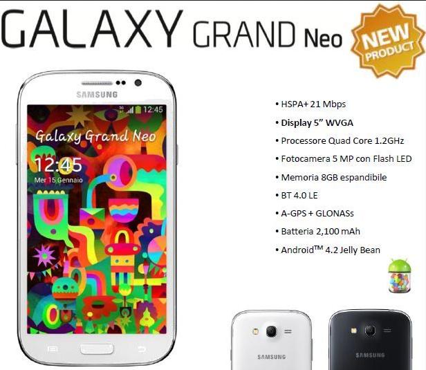 Spesifikasi Lengkap Samsung Galaxy Grand Neo