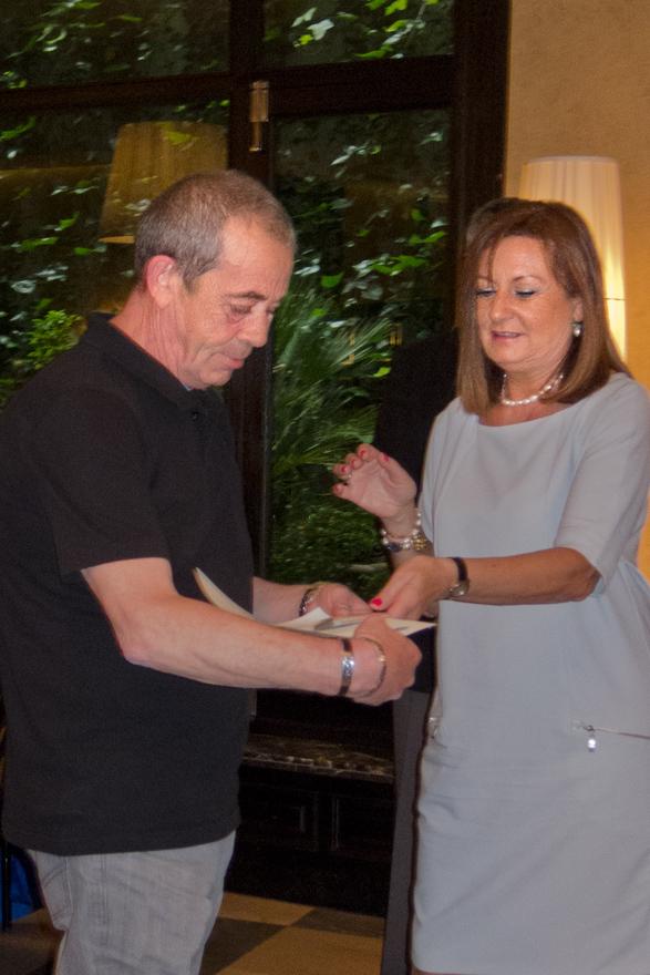 Jose Manuel López Alonso con Isabel Prada