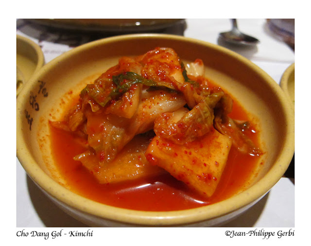 Image of Kimchi at Cho Dang Gol Korean restaurant in NYC, New York