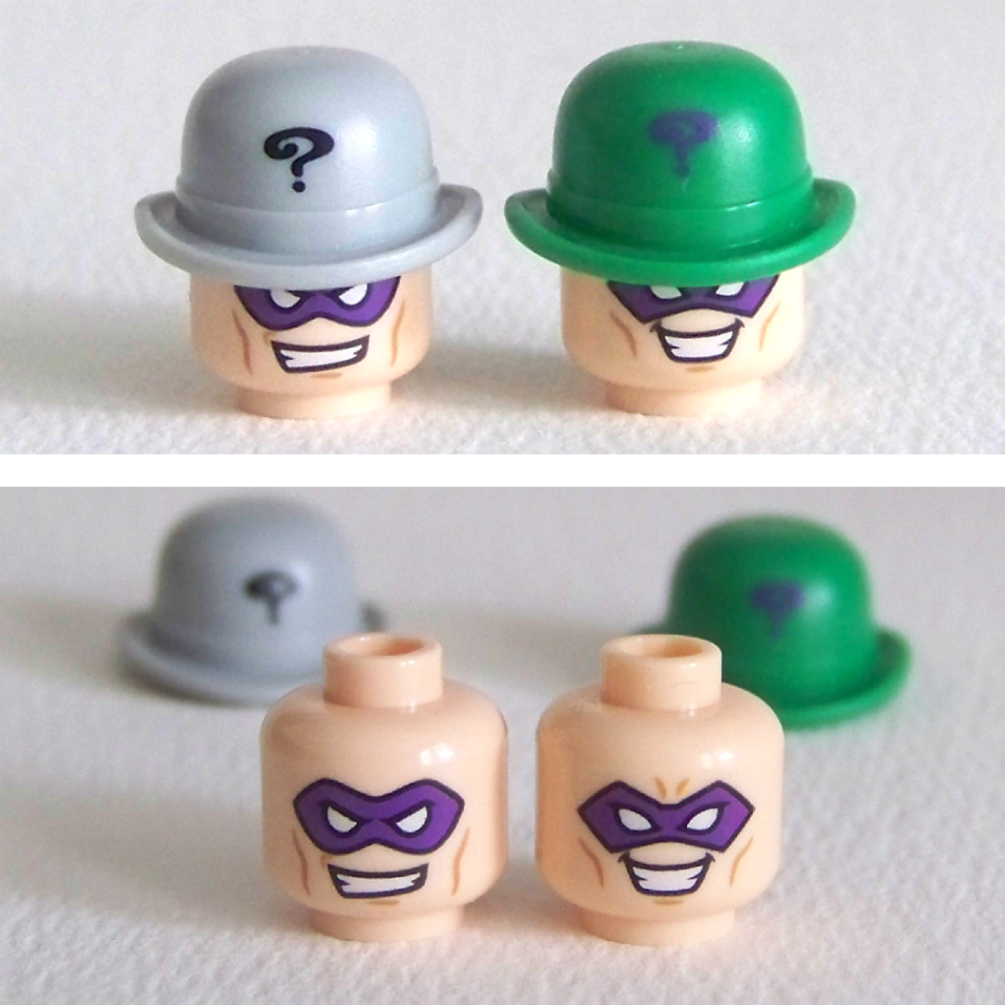 LEGO Riddler Head comparison