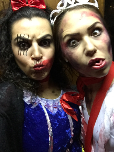 psycho snow white & zombie promqueen