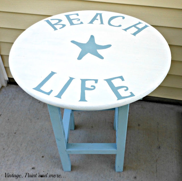 Vintage, Paint and more... chalk painted beach table