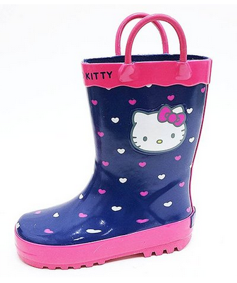 Kids Girls Hello Kitty Rain Boots Shoes Toddler Youth Children