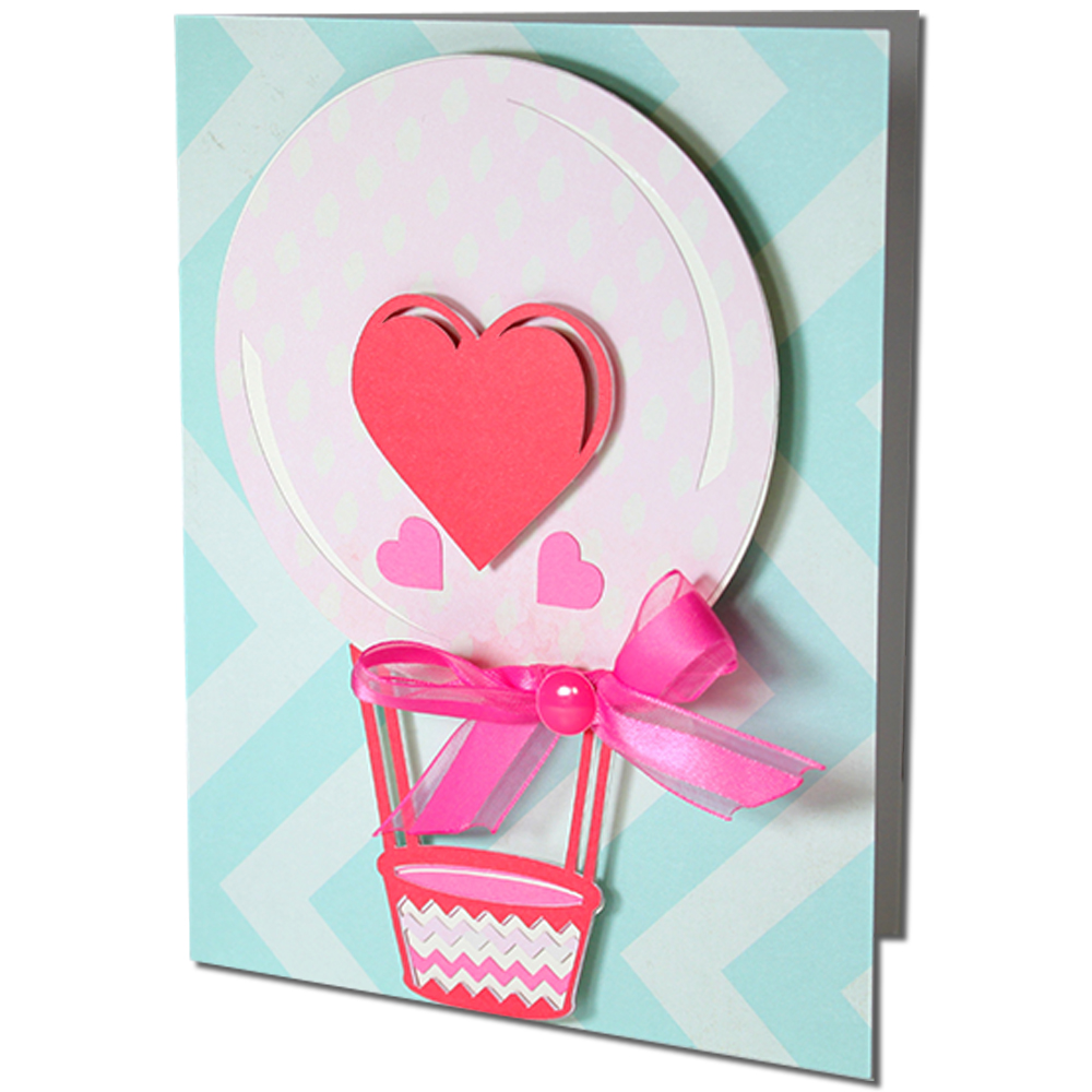 JMRush Designs: Heart Hot Air Balloon Card