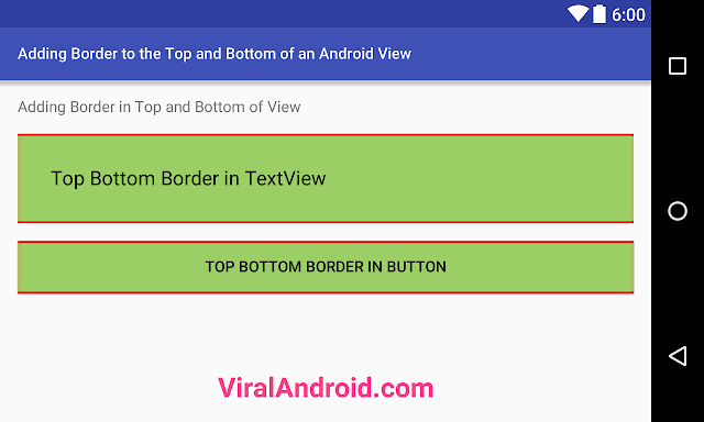Android Example: How to Add Border to the Top and Bottom of an Android View