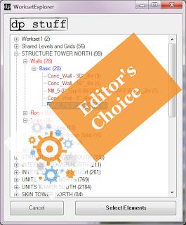 WorksetExplorer Revit Addin got Editor's Choice Award