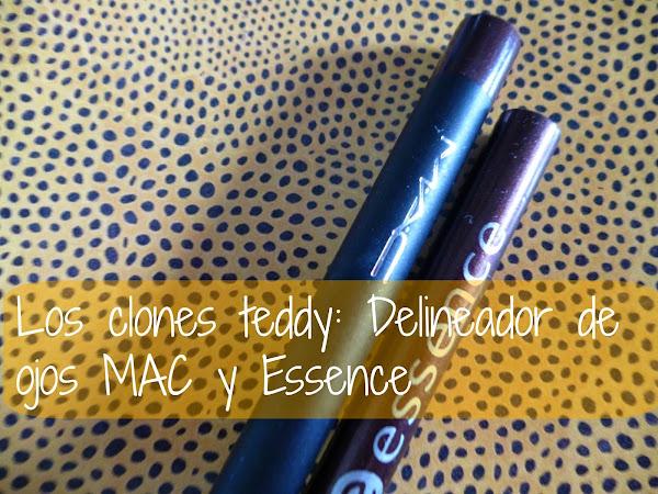 Los Clones Teddy: Delineador de ojos MAC y Essence