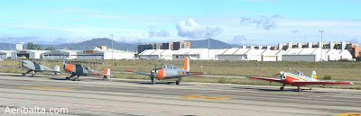 Avions de l'FPAC a punt de sortir a la Festa al Cel.