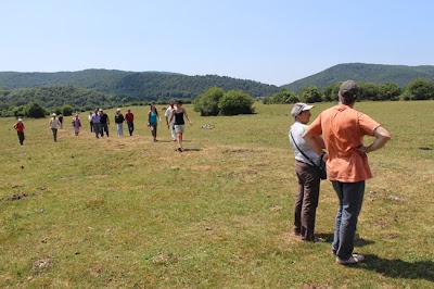 Calzada romana cerca de Burguete, en Iturissa.