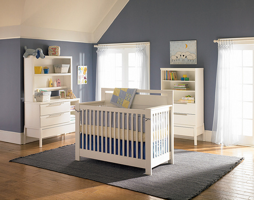 Gray Nursery Room
