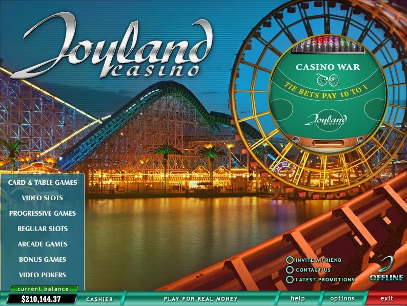 Joyland Casino Landing Page