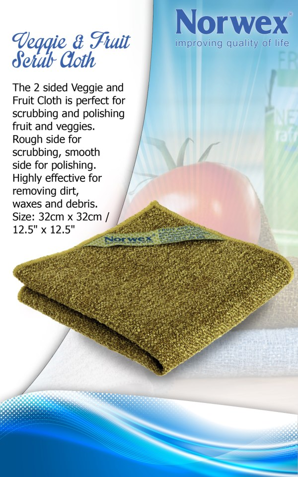 Cleaning Chemical Free: Veggie and Fruit Scrub Cloth