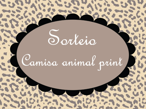 Sorteio: Camisa estampa animal print