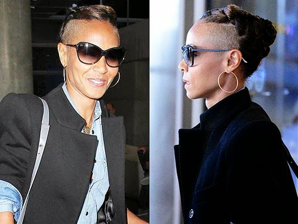 Soladunns blog jada pinkett smith does the mileynda see maybe not totally the right decision mrs will smith but fierce tho thats jada pinkett smiths new haircut she recently debuted the half shaved do voltagebd Gallery