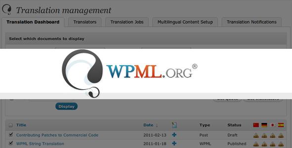 WPML v3.3.5 – WordPress Multilingual Plugin + 4 Add-ons