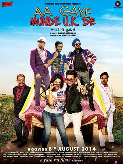 Poster Of Aa Gaye Munde U K De 2014 Punjabi 350MB WebHD 480p ESubs Free Download Watch Online